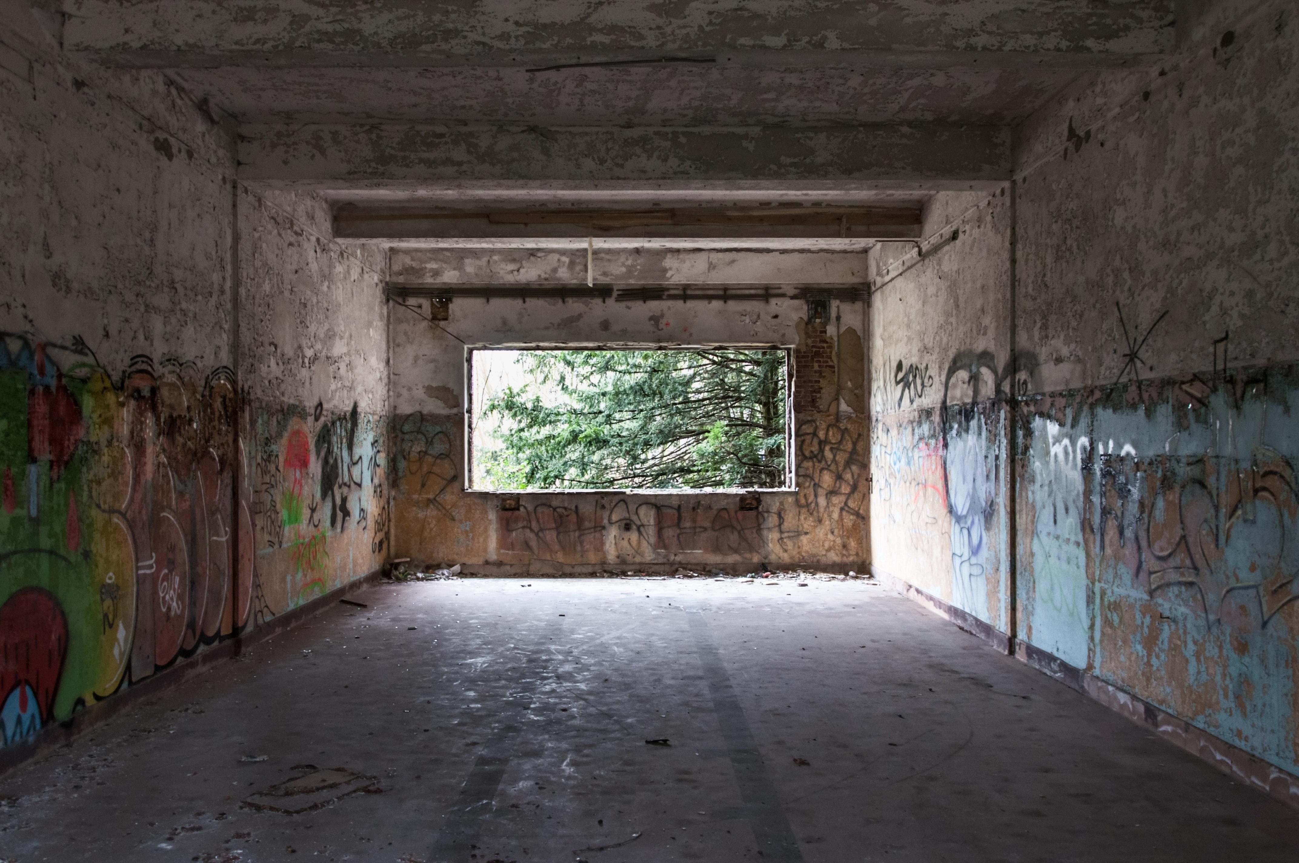 Brown Wooden Door Inside Abandoned Room 183 Free Stock Photo