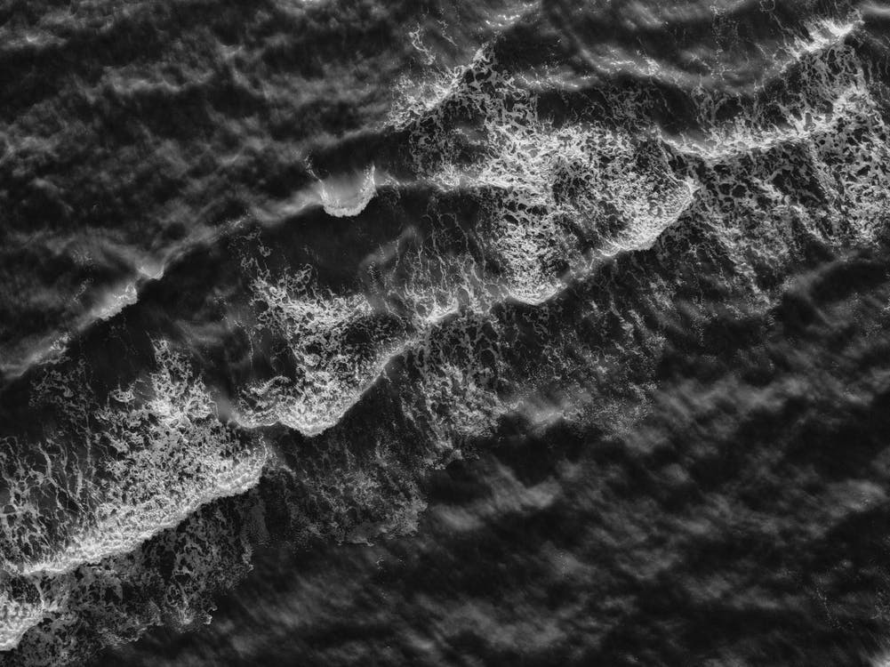 White and Black Sea Waves