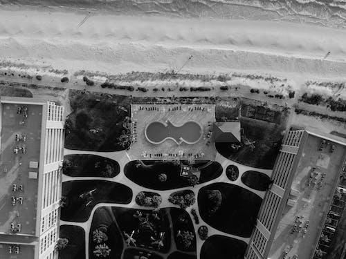 Zdjęcia Lotnicze Budynków W Skali Szarości