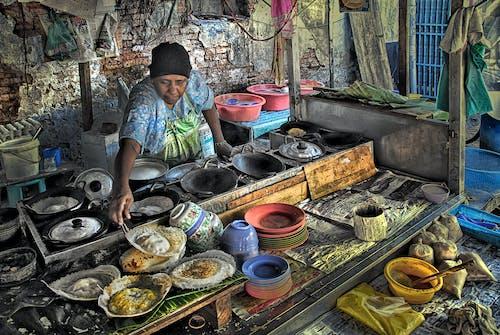 亞洲, 小贩, 街頭食物 的 免费素材照片