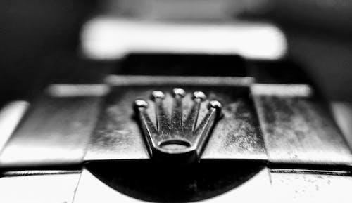 Free stock photo of black and white, bracelet, crown