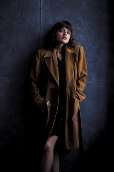 Woman Wearingbrown Trench Coat