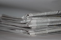 black-and-white, journalism, paper
