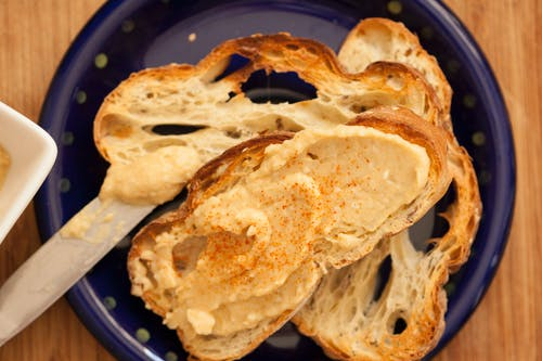 Pieces of Buttered Bread
