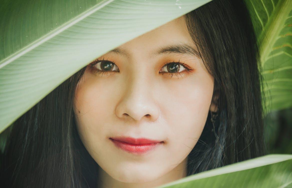 asiàtica, atractiu, bellesa