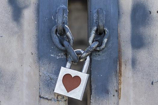 Free stock photo of heart, metal, door, gate