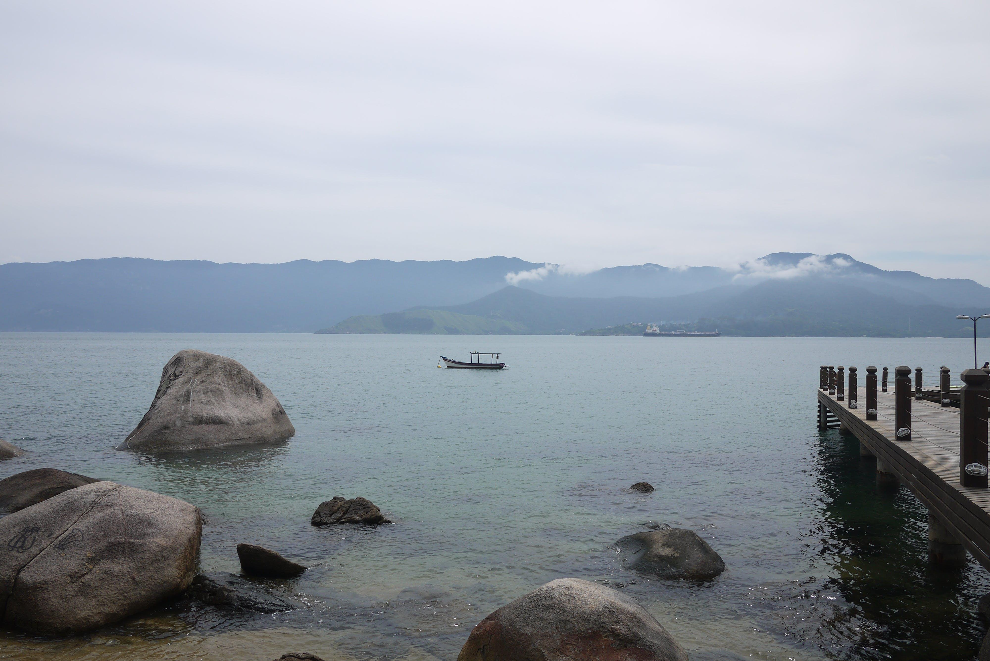 Free stock photo of beach, boat, island, landscape