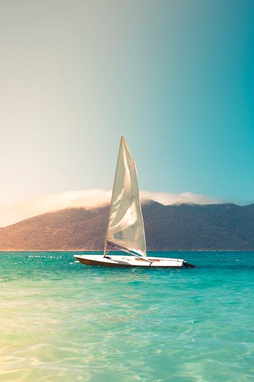 Free stock photo of beach, boat, ocean, sail