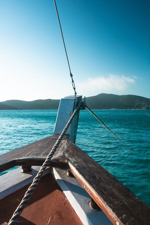 båt, blå himmel, dagslys