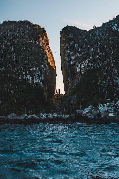 bjerg, bølger, dagslys