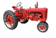 red, vehicle, tractor