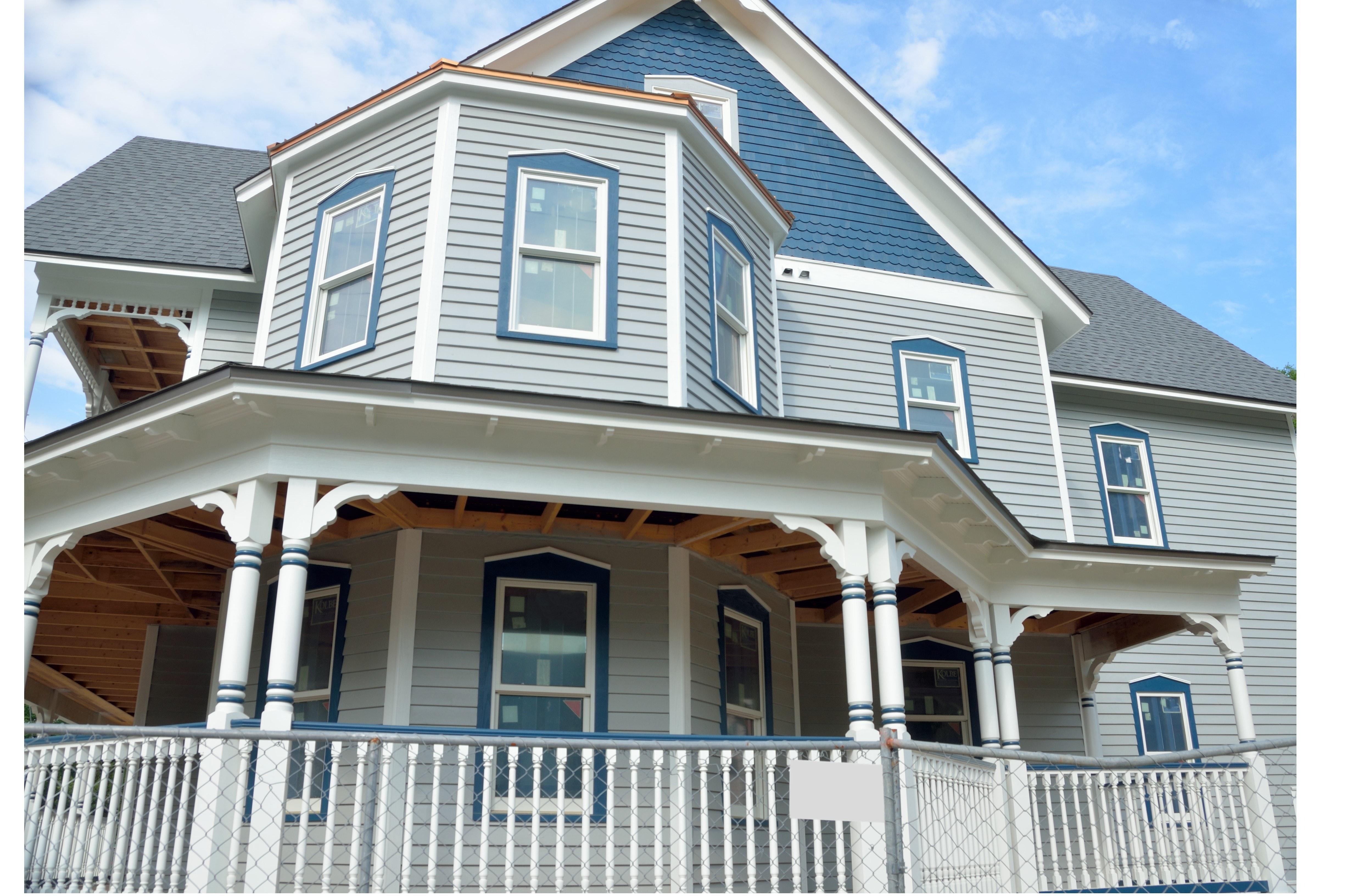 White Concrete 2 Storey House 183 Free Stock Photo