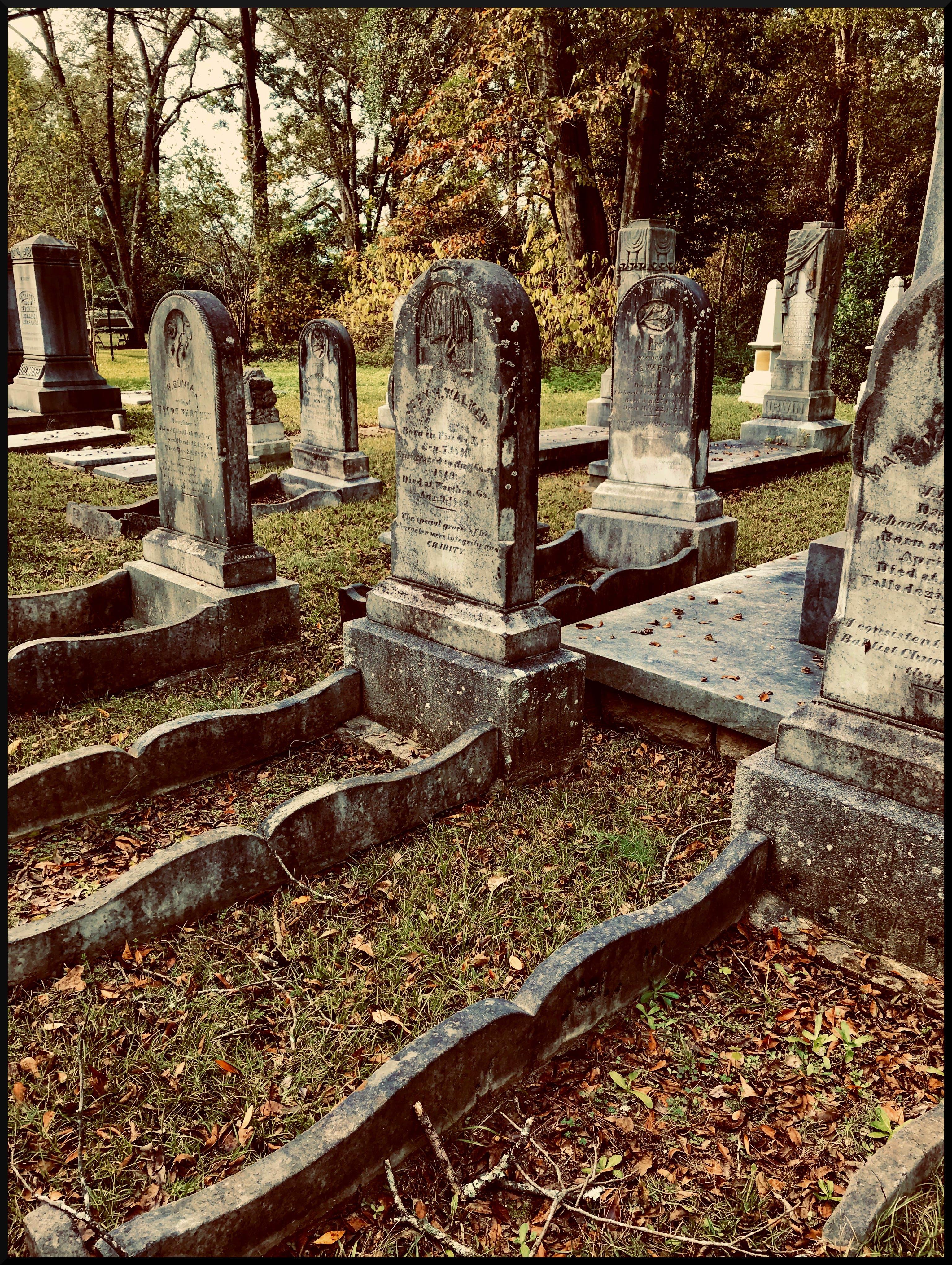 Free stock photo of cemetery, death, graves, gravestones