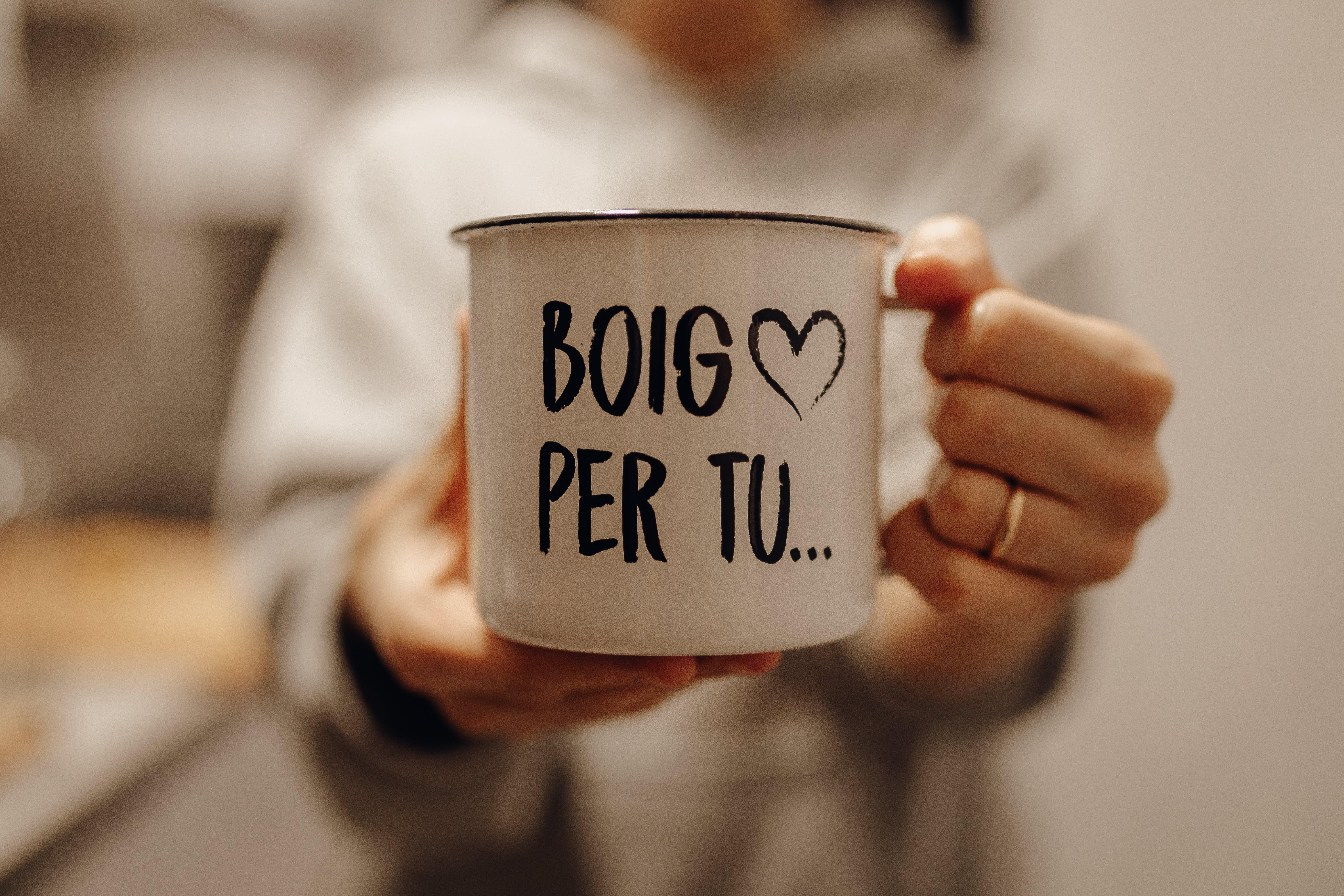 Boig Per Tu Printed White Mug