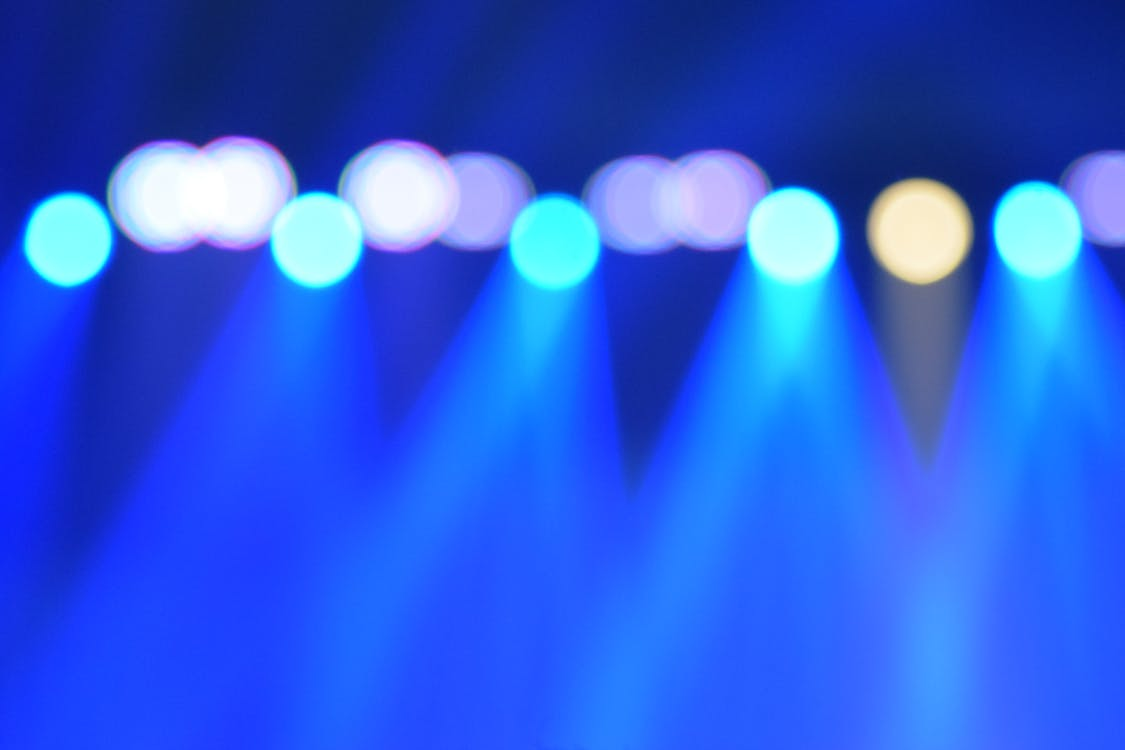 Free stock photo of beautiful lights, blue, concert