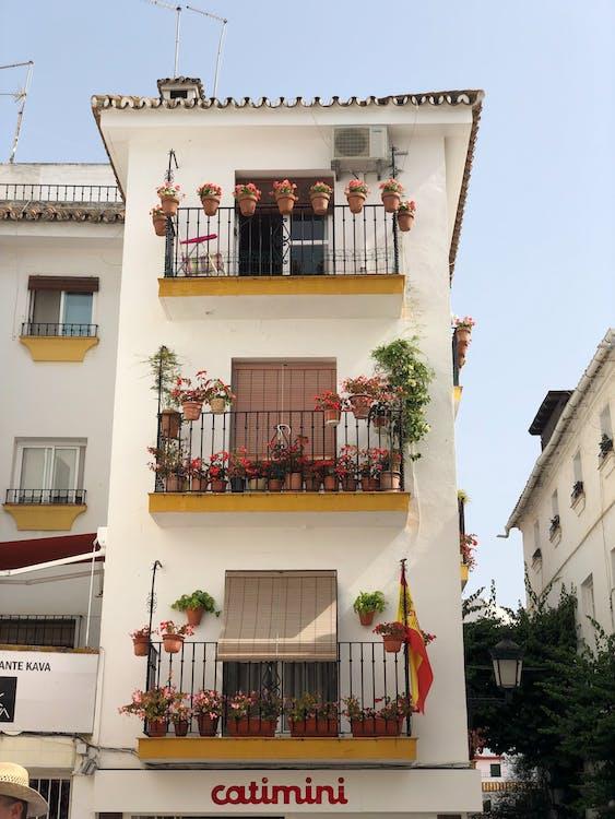 arquitectura, balcons, ciutat