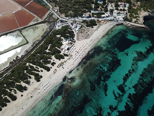 Foto d'estoc gratuïta de des de dalt, foto aèria, foto des d'un dron, mar
