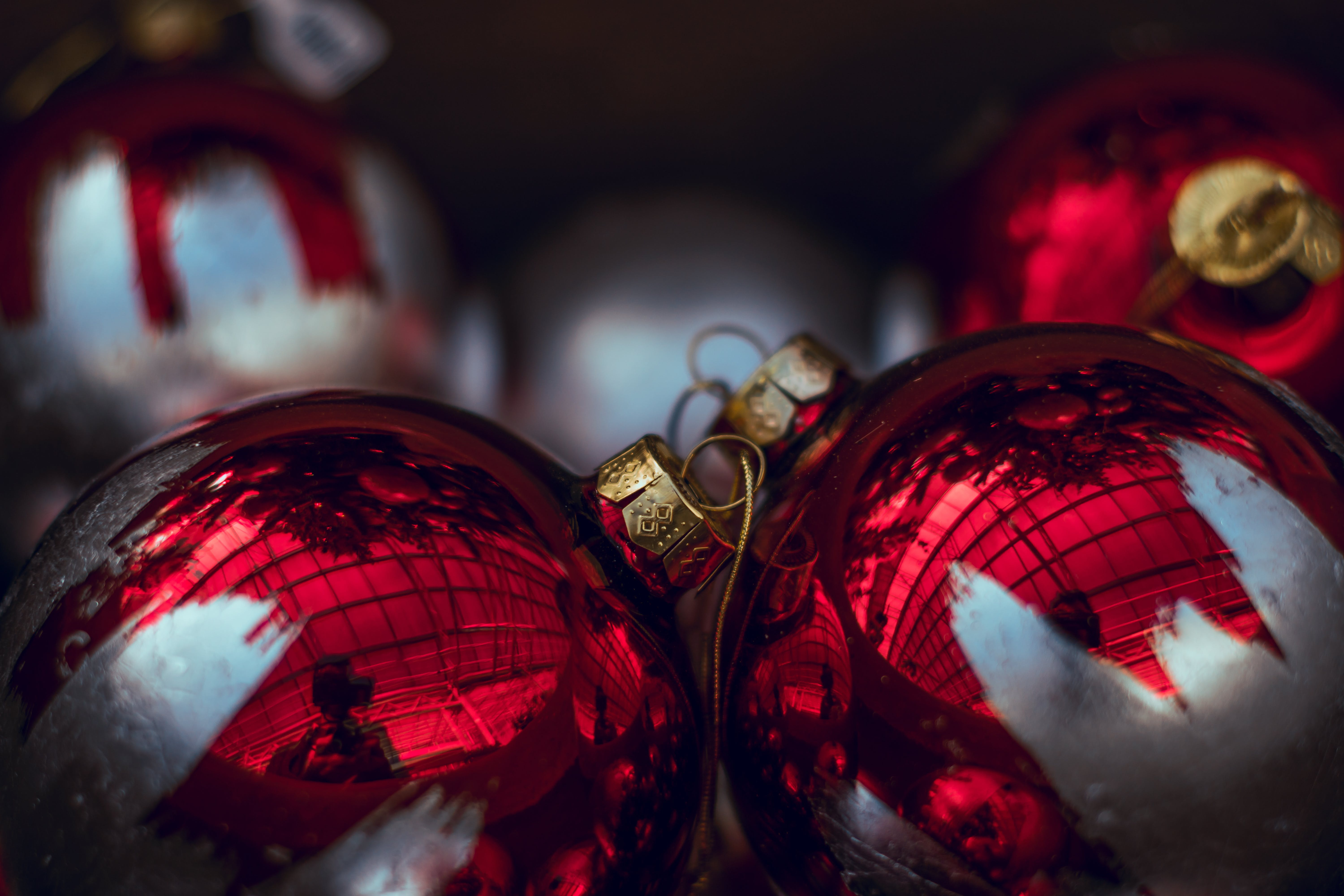 Several Christmas Baubles