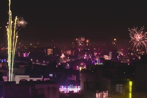 Základová fotografie zdarma na téma diwali noc, noční obloha, požární klapky