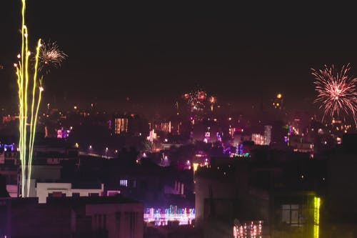 Free stock photo of diwali night, fire-crakers, night sky