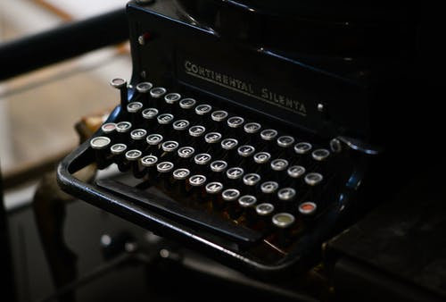 Black Continental Silenta Typewriter