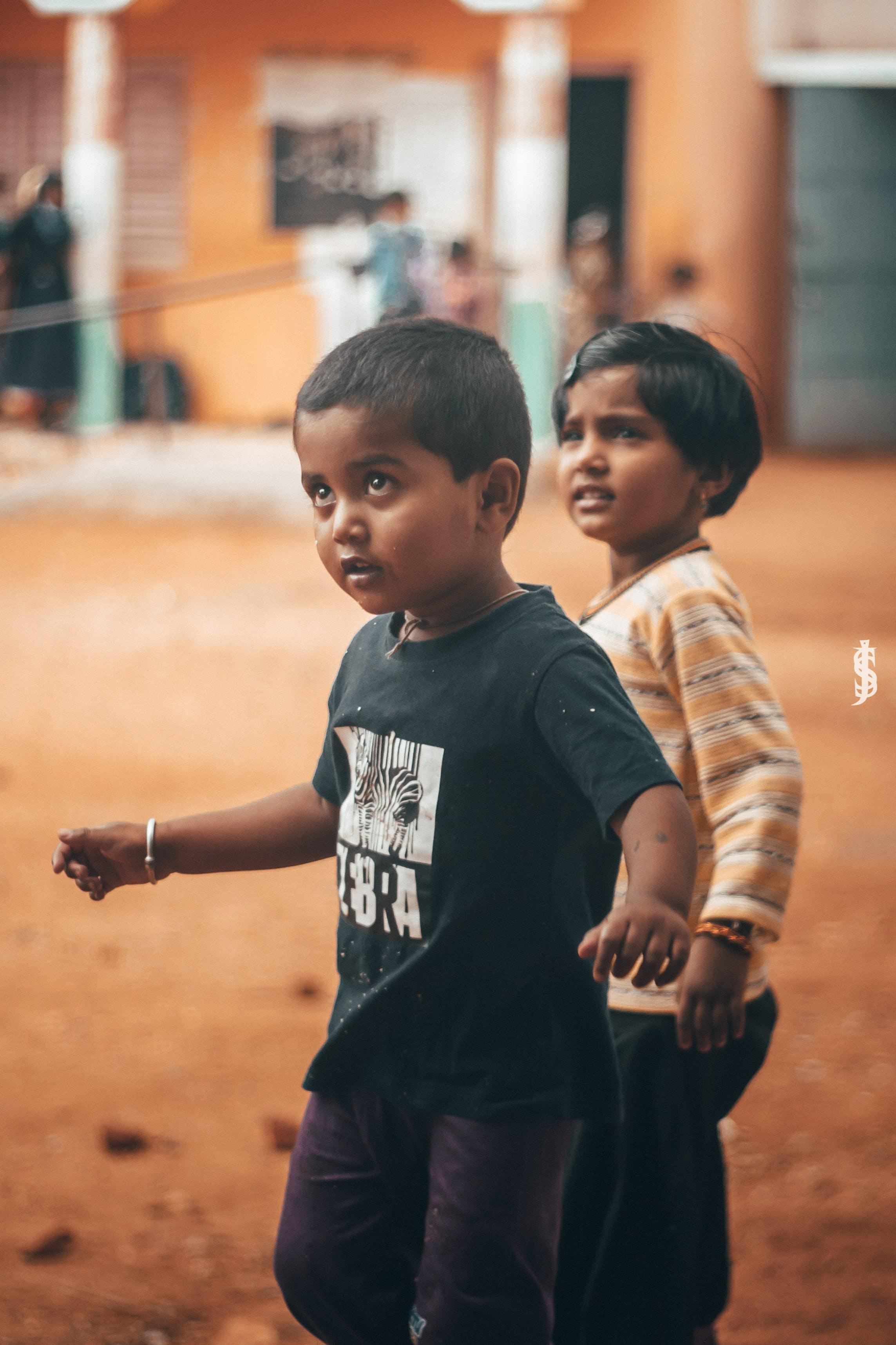 Free stock photo of boy, candid, girl, innocence