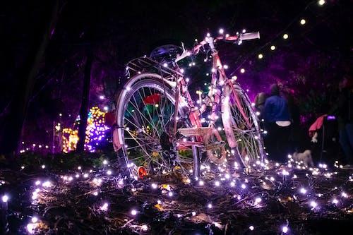 假日, 聖誕, 聖誕燈飾, 自行車 的 免费素材照片