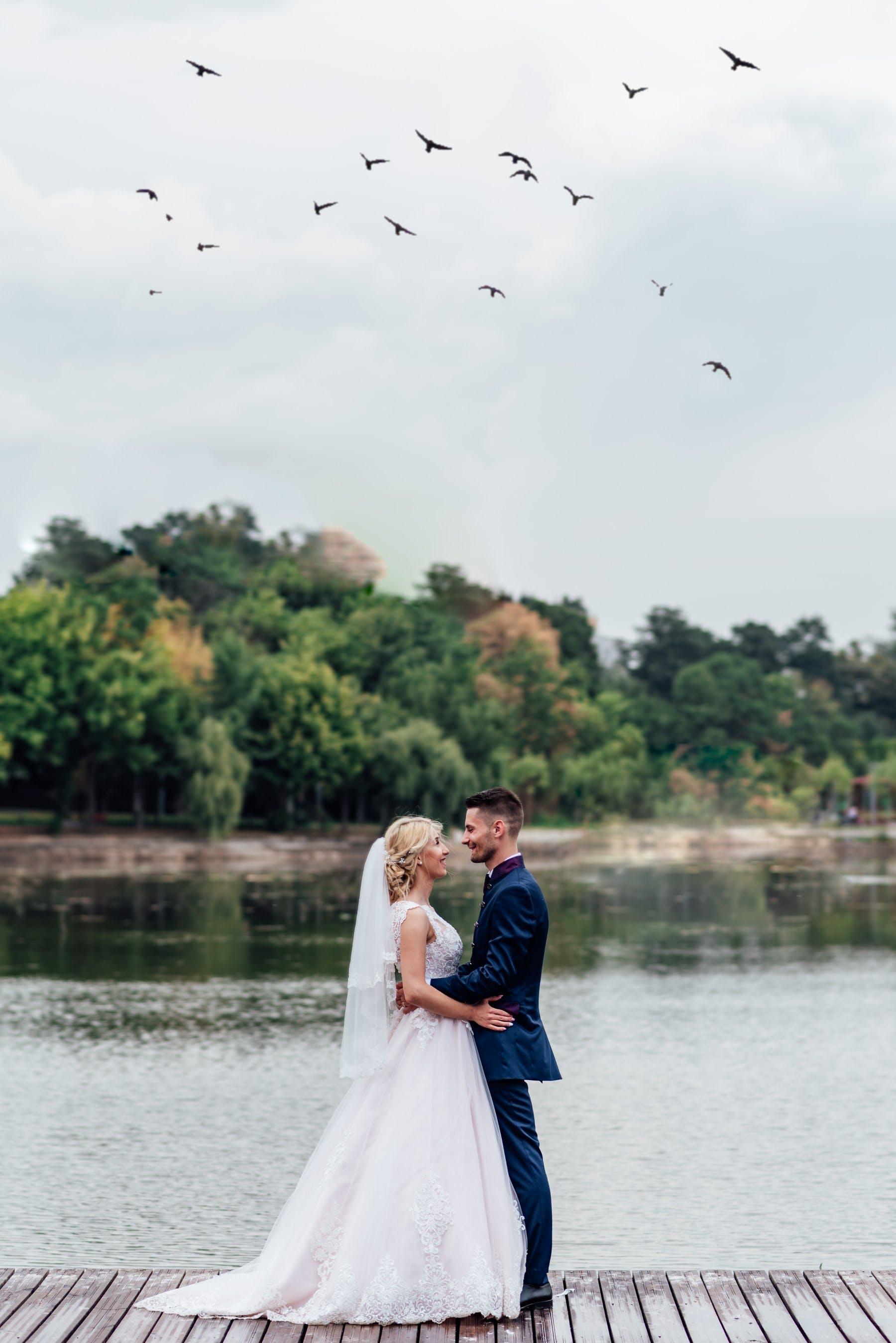 Kostenloses Stock Foto zu bräutigam, ehe, frau, hochzeit