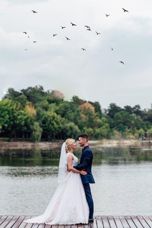 Foto stok gratis cewek, cinta, danau