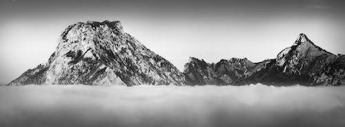 Безкоштовне стокове фото на тему «ultrawide, Австрія, Альпи, білий і чорний»