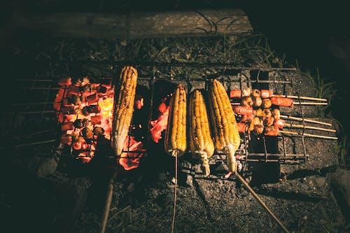 Ingyenes stockfotó barbecue, éjszaka, fekete, fű témában