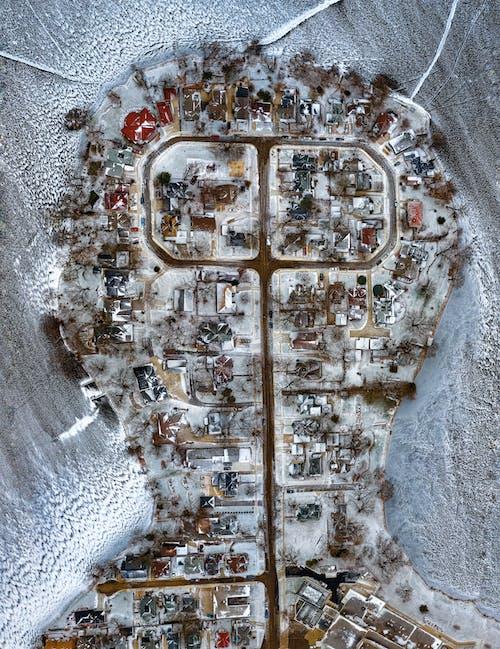 Gratis lagerfoto af arkitektur, bygninger, droneoptagelser, forkølelse