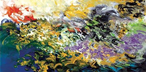 Gratis arkivbilde med 4k-bakgrunnsbilde, abstrakt ekspresjonisme, abstrakt maleri, akrylmaling