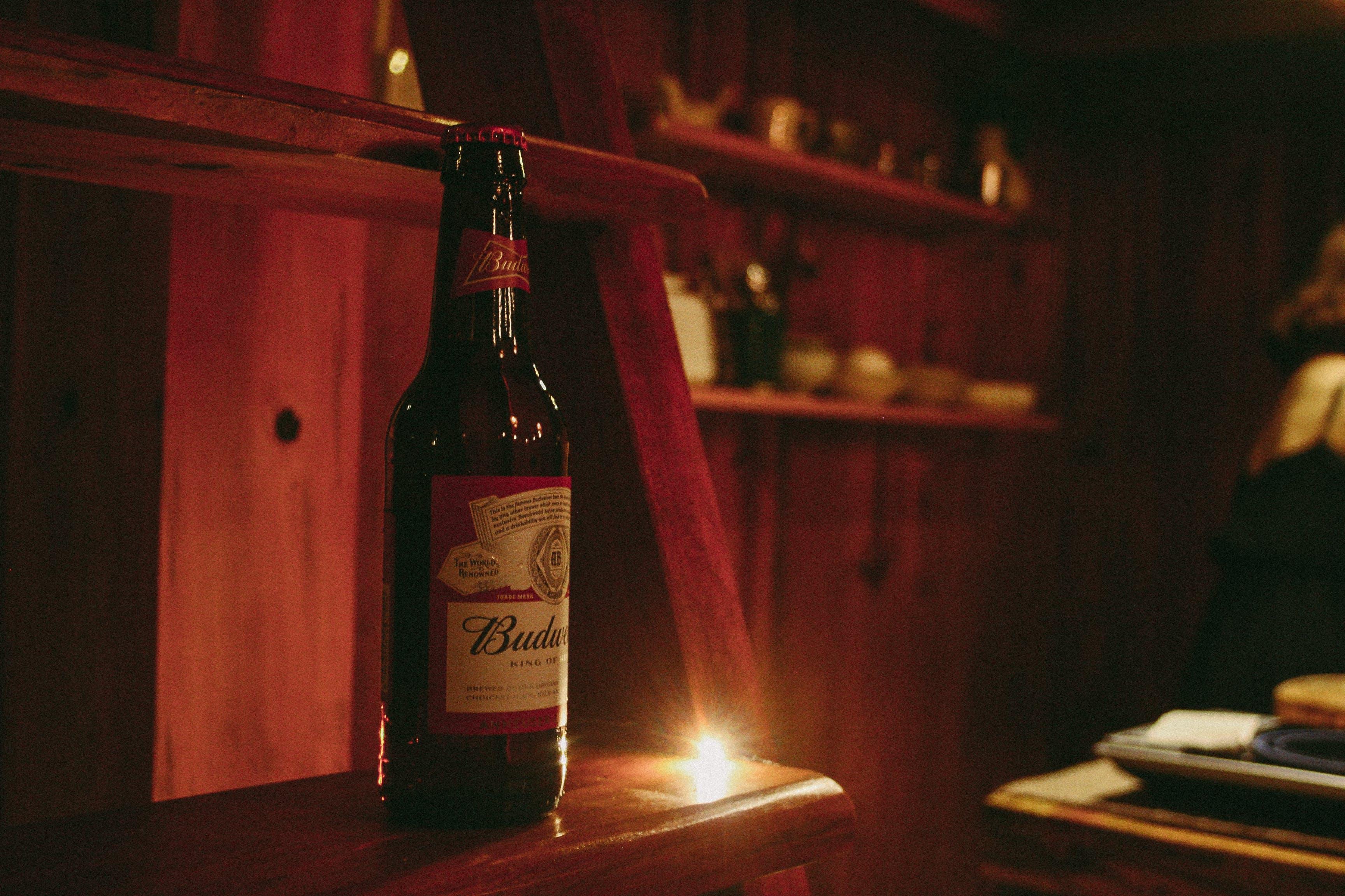 Free stock photo of beer, beer bottle, stair, wooden