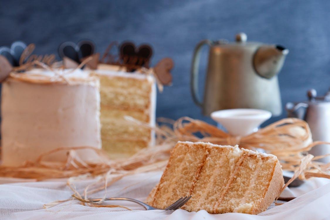 chleba, dort, jídlo