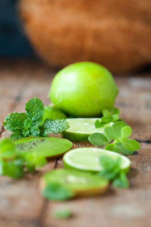 Imagine de stoc gratuită din adâncime de câmp, delicios, fruct, lămâie verde