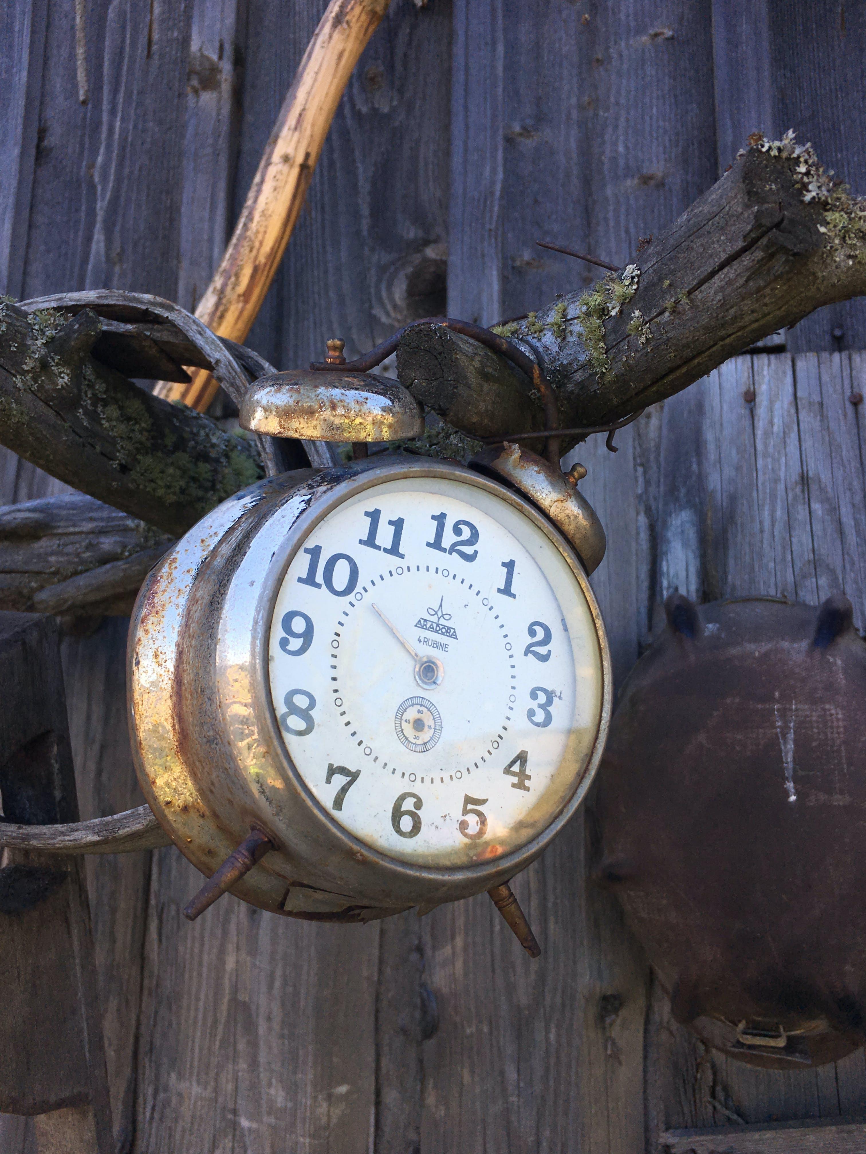 Free stock photo of alarm clock, old clock, vintage clock