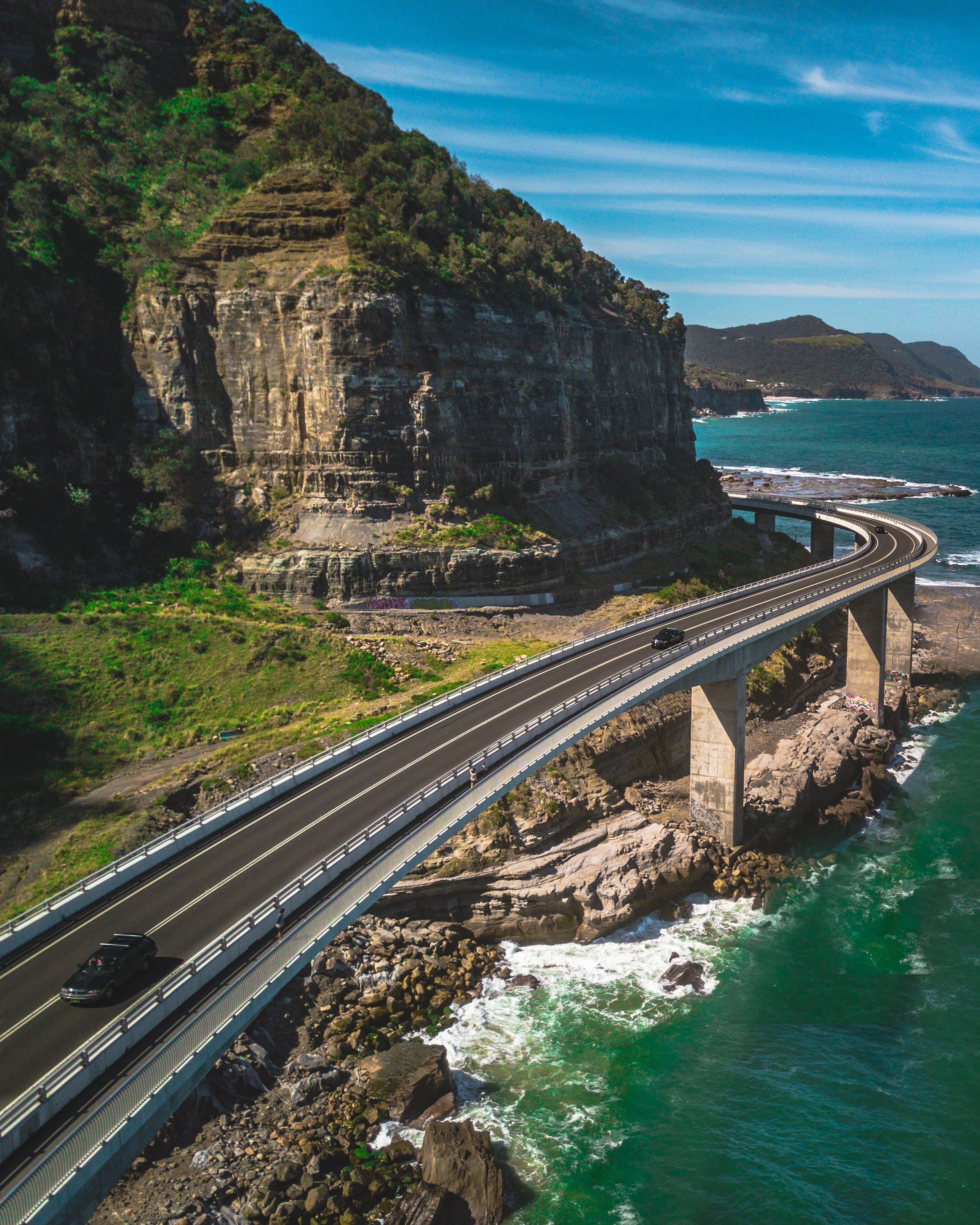 Foto d'estoc gratuïta de carretera, Costa, des de dalt, foto aèria