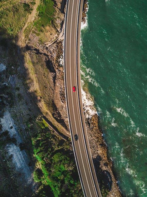arabalar, deniz, deniz kıyısı, gün ışığı içeren Ücretsiz stok fotoğraf