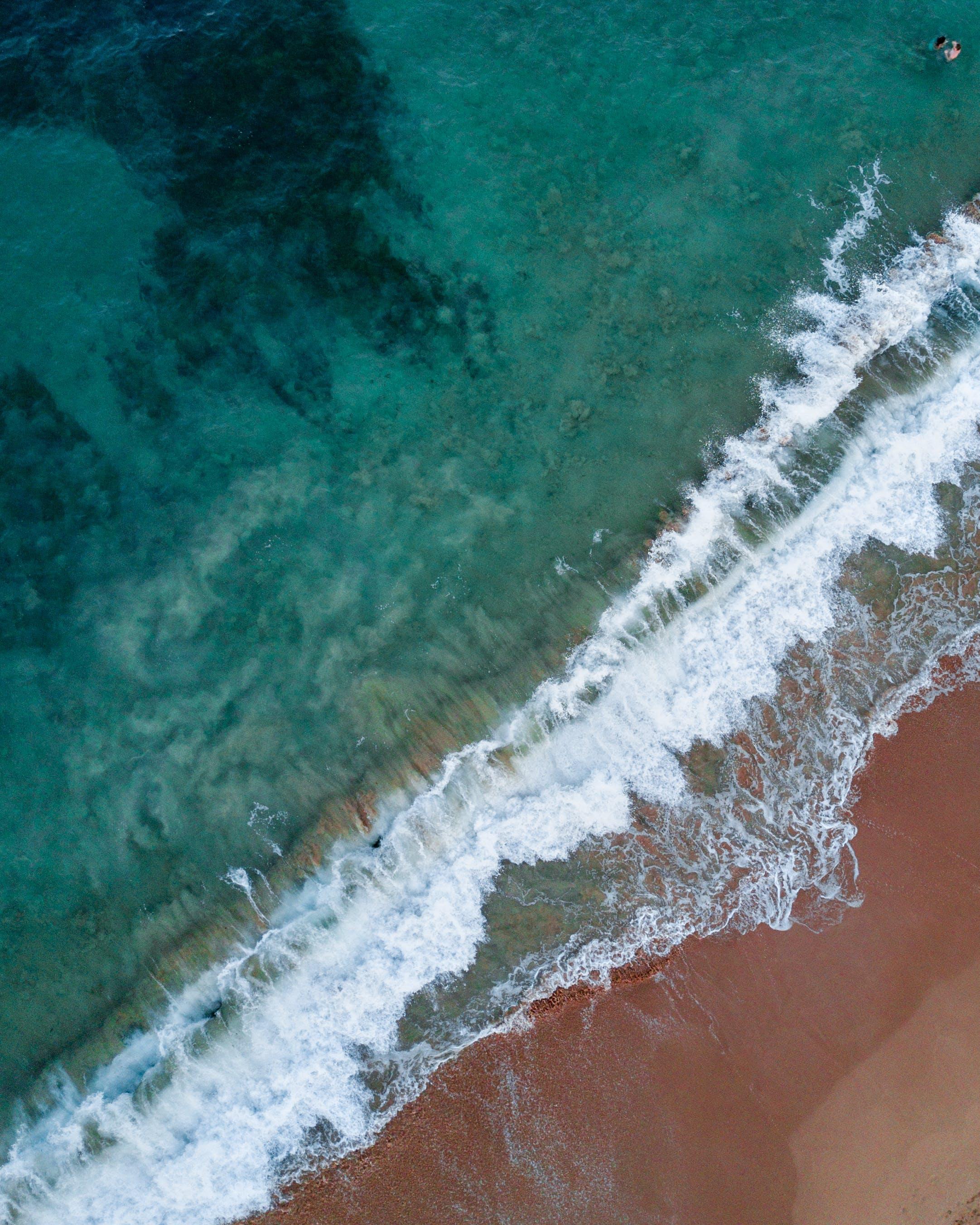 High Angle Photo of Seashore