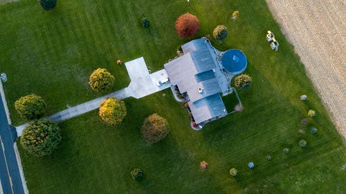 Aerial Photography of Gray House