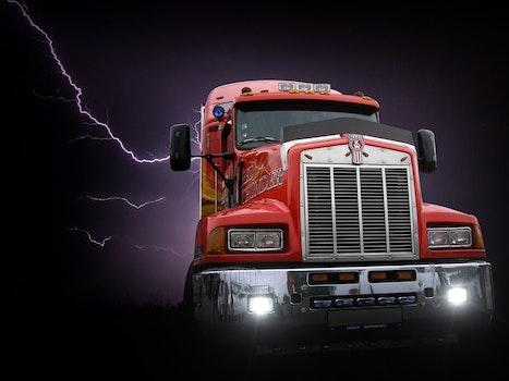 Free stock photo of red, night, dark, storm
