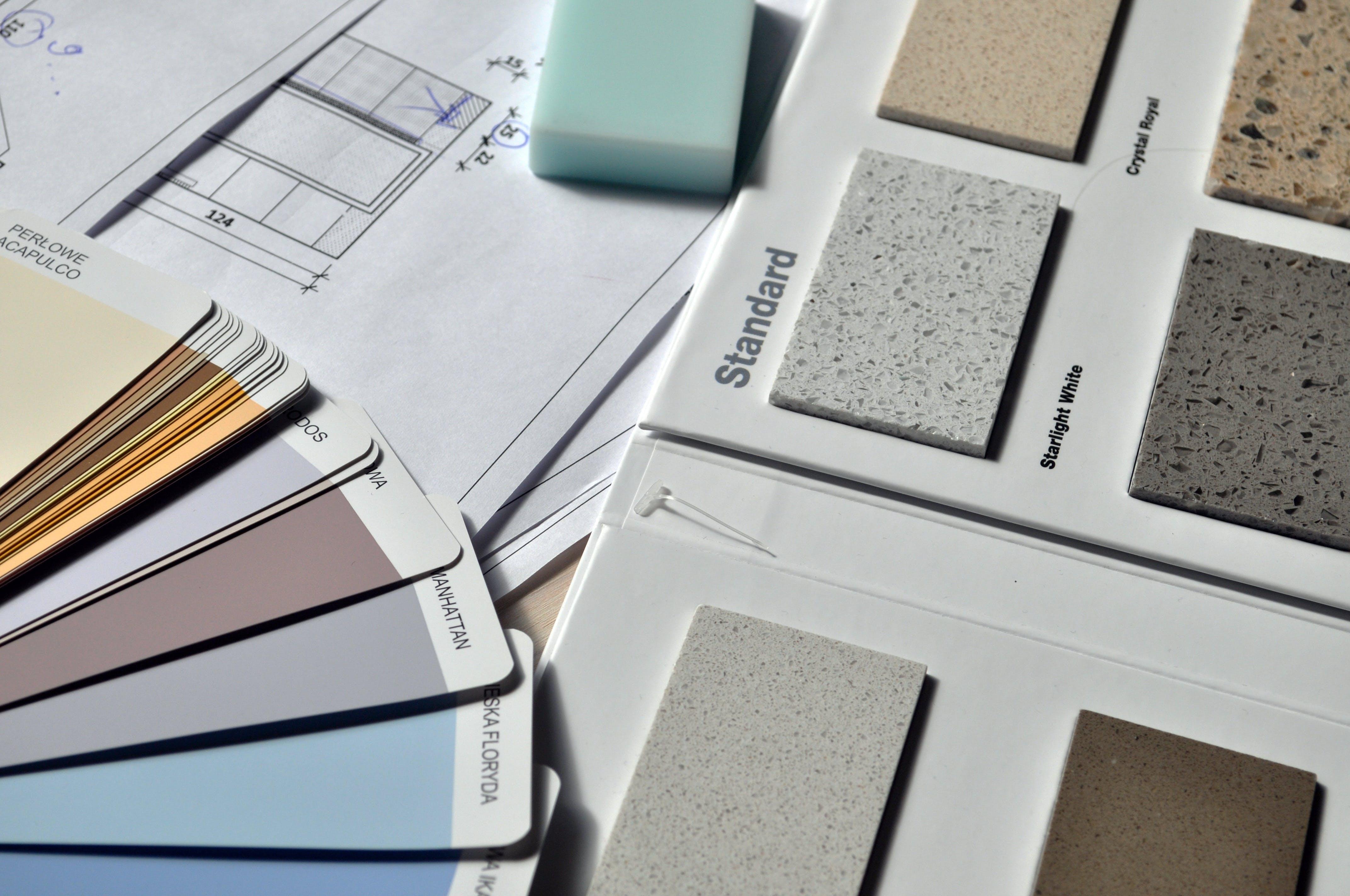 Gray Standard Color Book Near Green Eraser