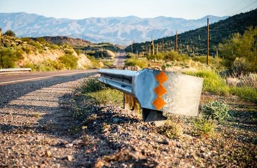 Free stock photo of arizona, desert, guard rail