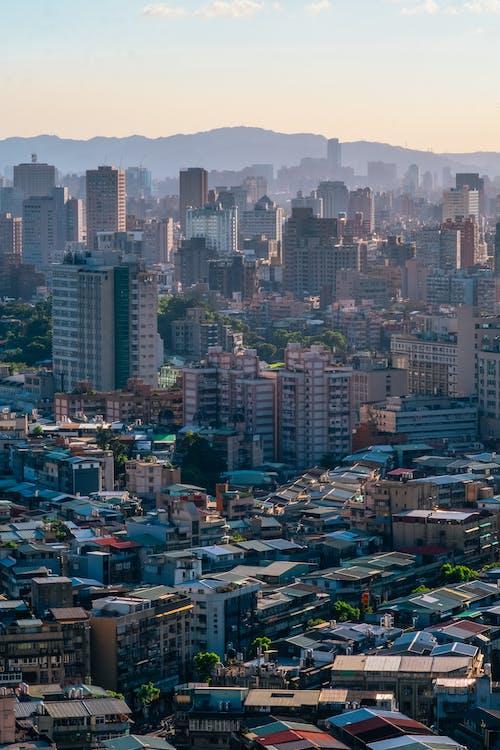 Foto profissional grátis de aerofotografia, arranha-céus, centro da cidade, cidade