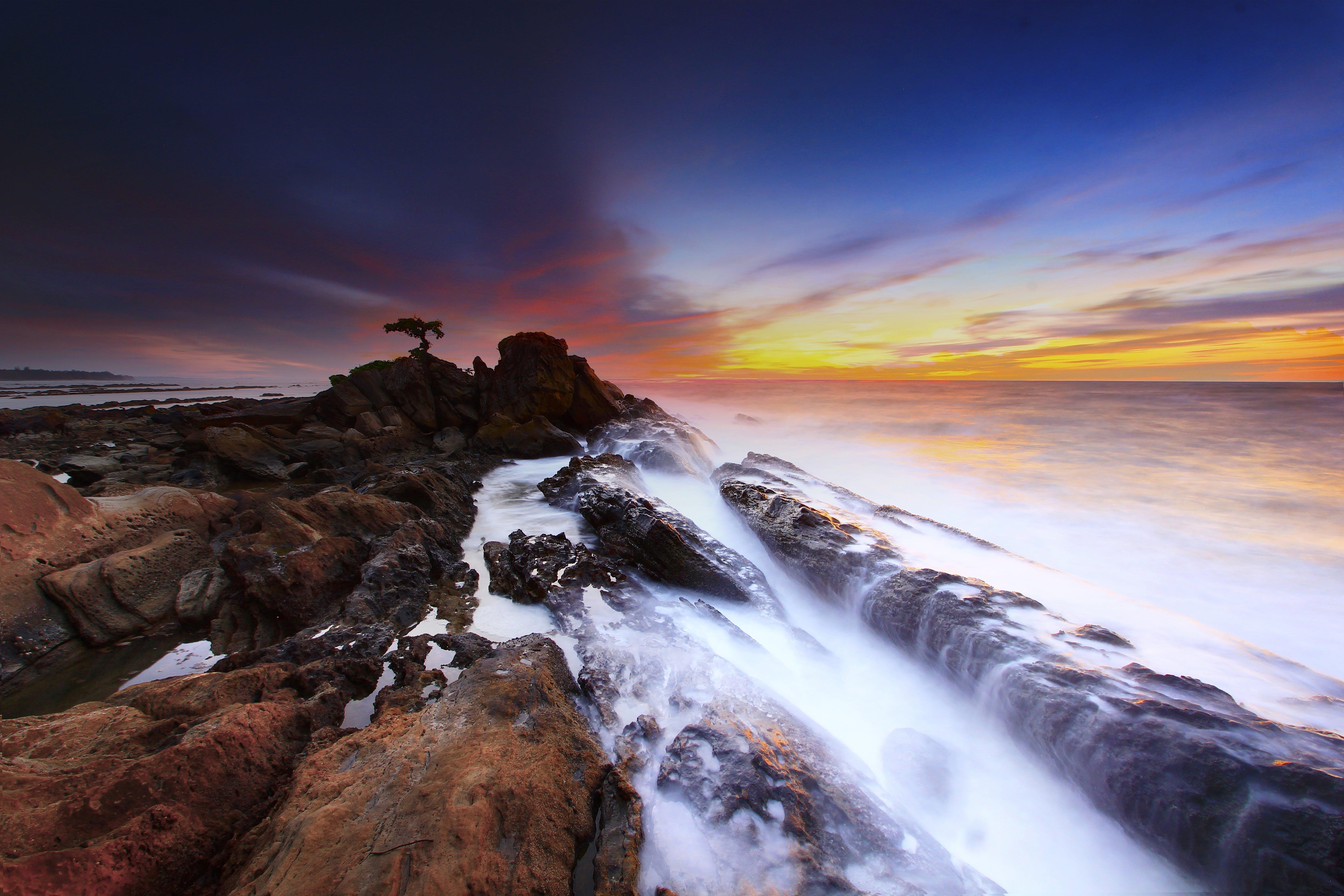 Gratis lagerfoto af bølge, hav, himmel, kyst