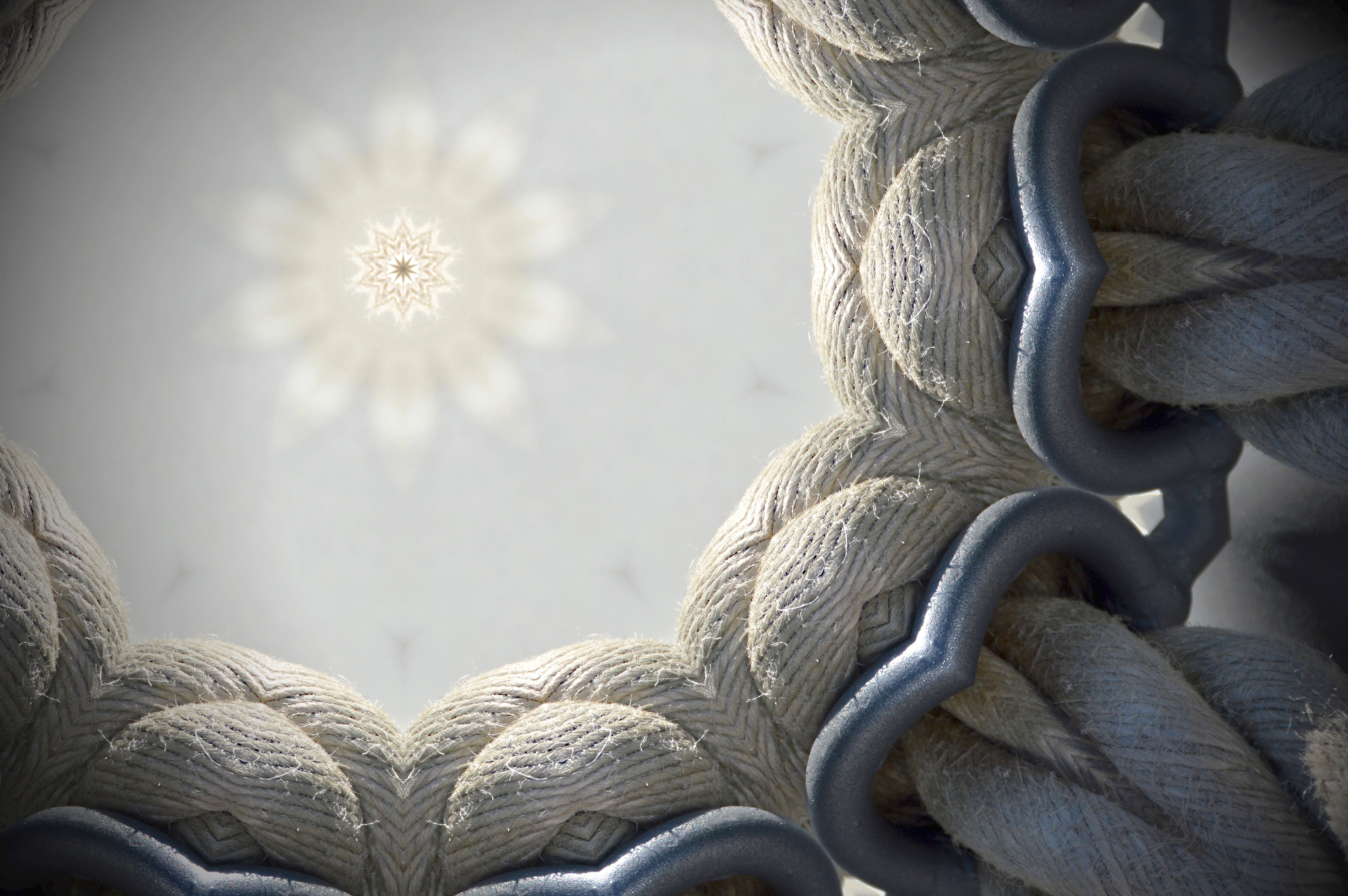 Macro Photography of Rolled Round Rope