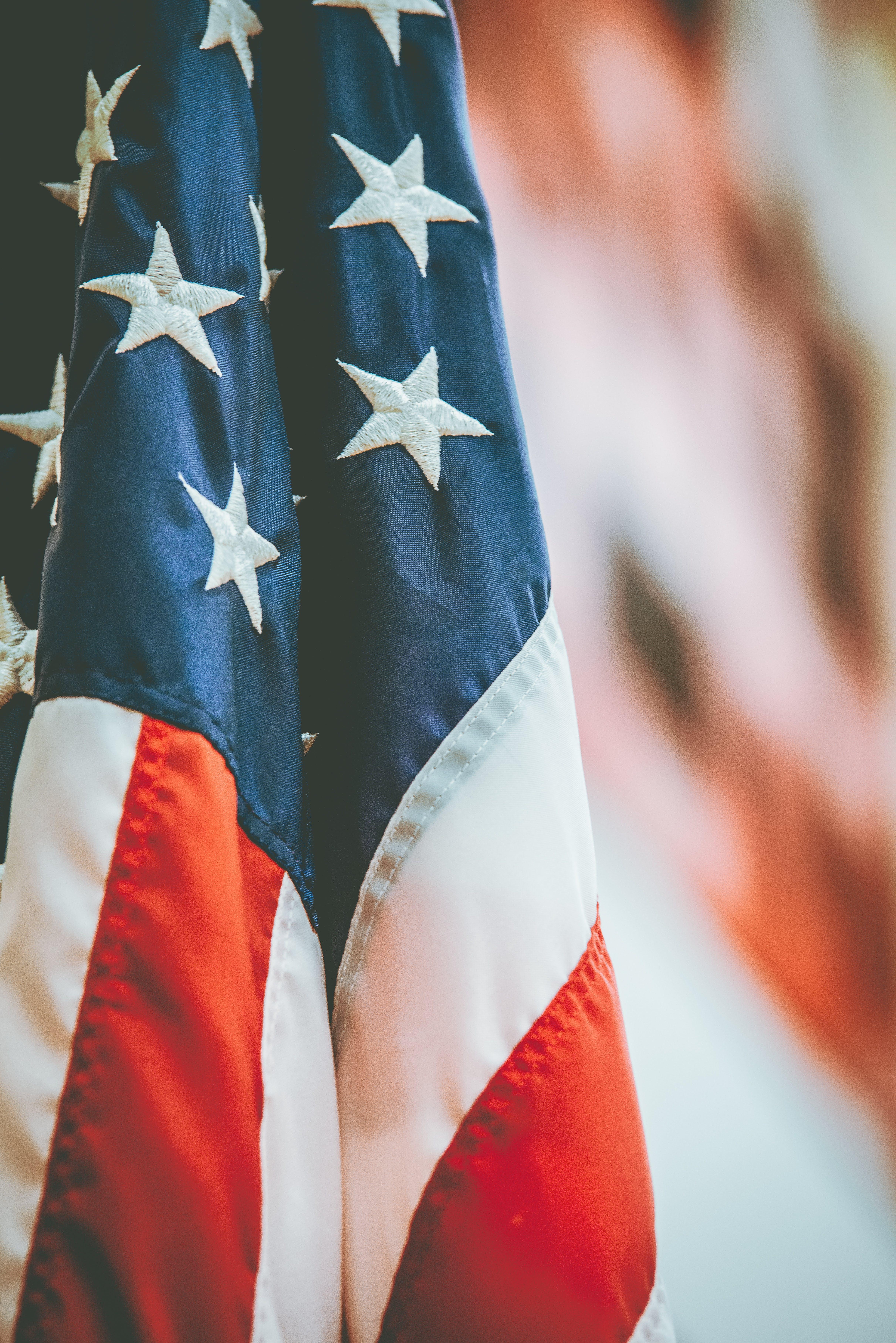 Gratis lagerfoto af administration, amerika, Amerikansk flag, close-up