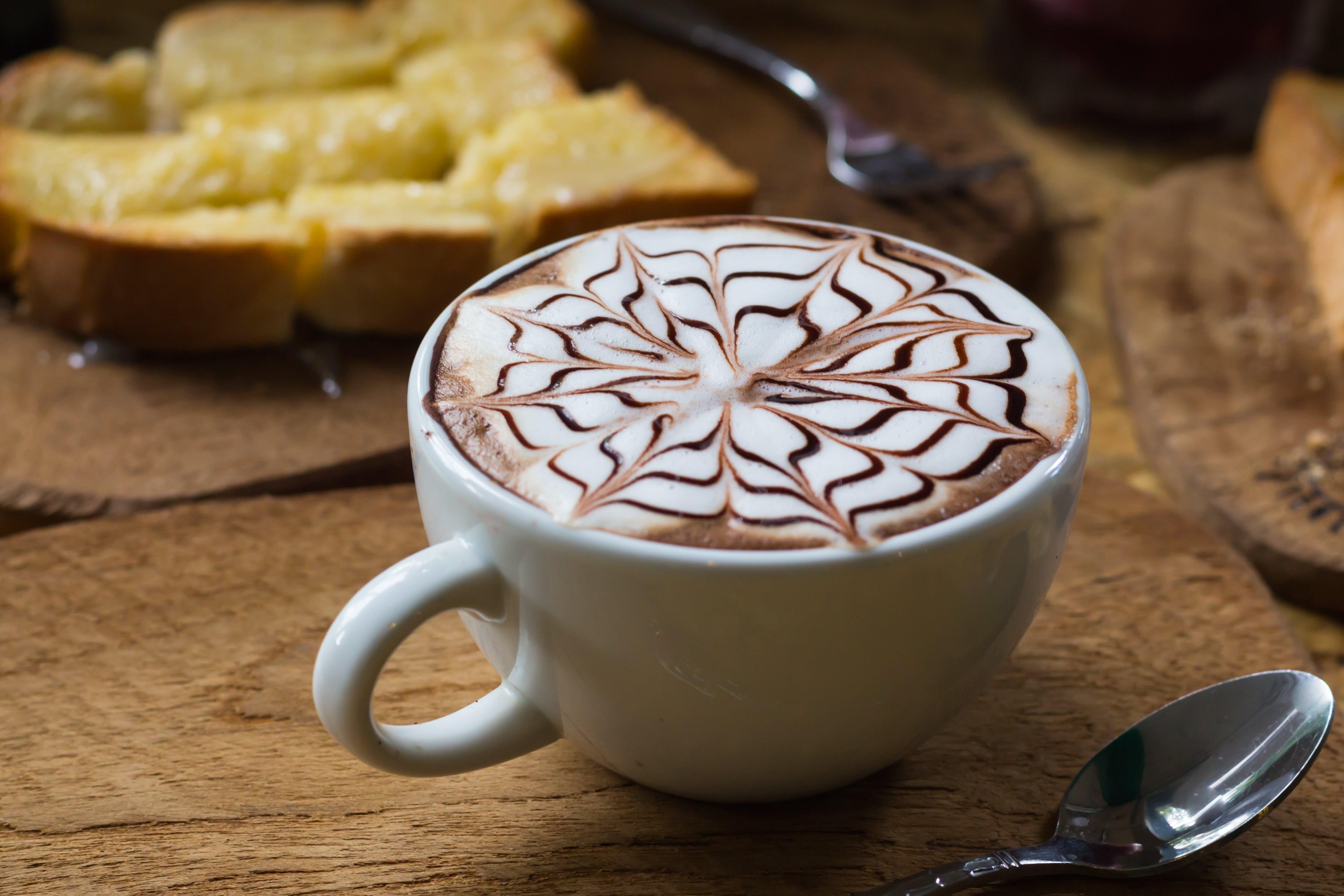 Flower Designed Latte
