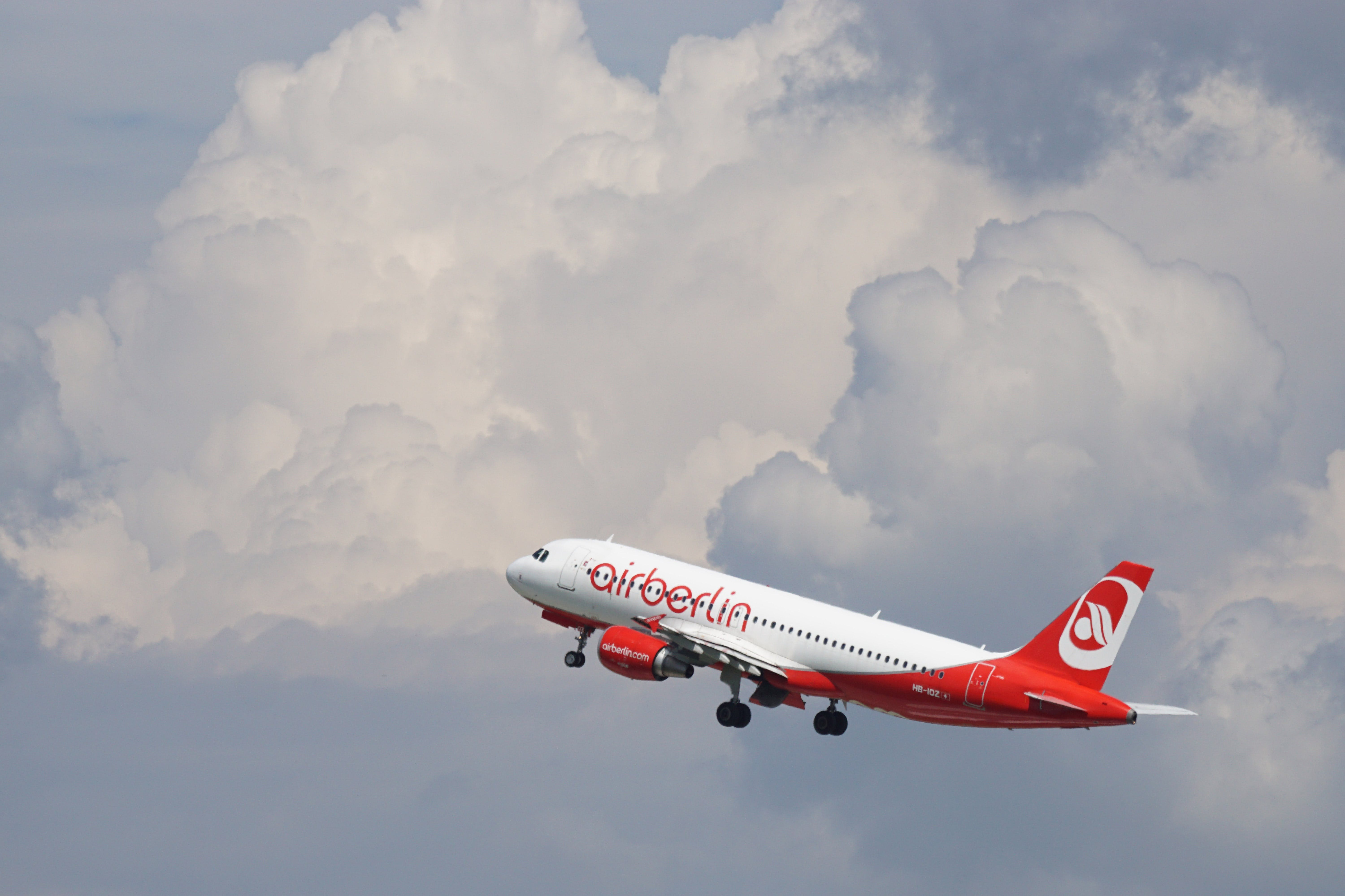 Air Berlin Red and White Airplane